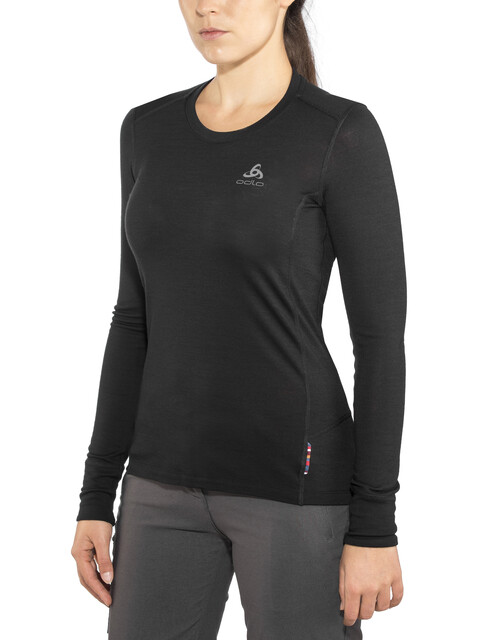 Odlo Suw Natural LS Top Crew Women black-black